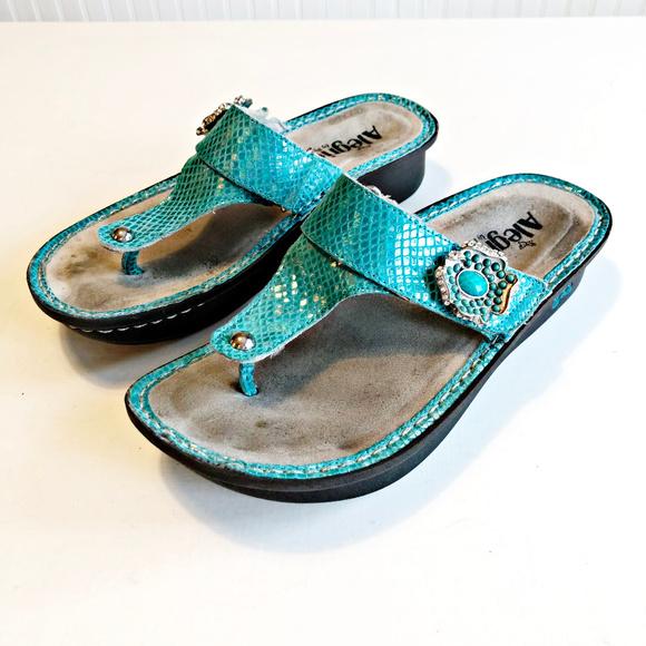 4b9a4d53b09aba Alegria Shoes - Alegria PG Lite Carina Aloha Teal Sandal Flip Flop